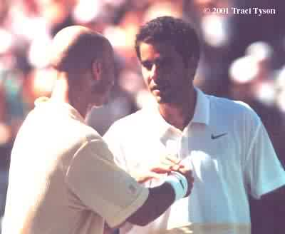 Andre Agassi and Pete Sampras (2001 Indian Wells)