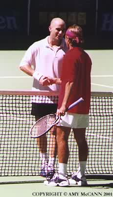 Andre Agassi and Arnaud Clement (2001 Australian Open)
