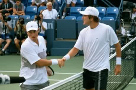 Justin Gimelstob and Michal Tabara (2001 US Open)