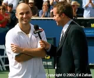 Andre Agassi and Patrick McEnroe (2002 Franklin Templeton in Scottsdale)