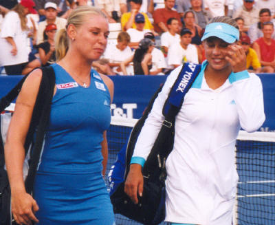 Anna Kournikova and Barbara Schett