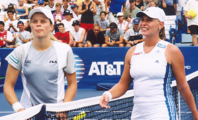 Barbara Schett and Kim Clijsters