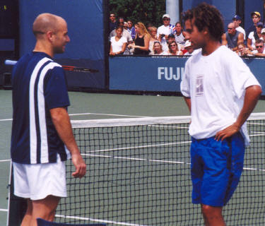 Andre Agassi and James Blake (2002 US Open)
