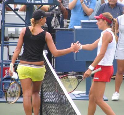 Tatiana Golovin on Tatiana Golovin And Anca Barna  2004 Us Open