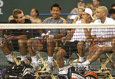 Andre Agassi, Andy Roddick, Paradorn Srichaphan, Lleyton Hewitt (2005 Indian Wells)